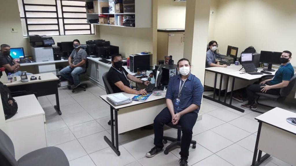 Equipe do NUTI responsável pelas novas ferramentas tecnológicas