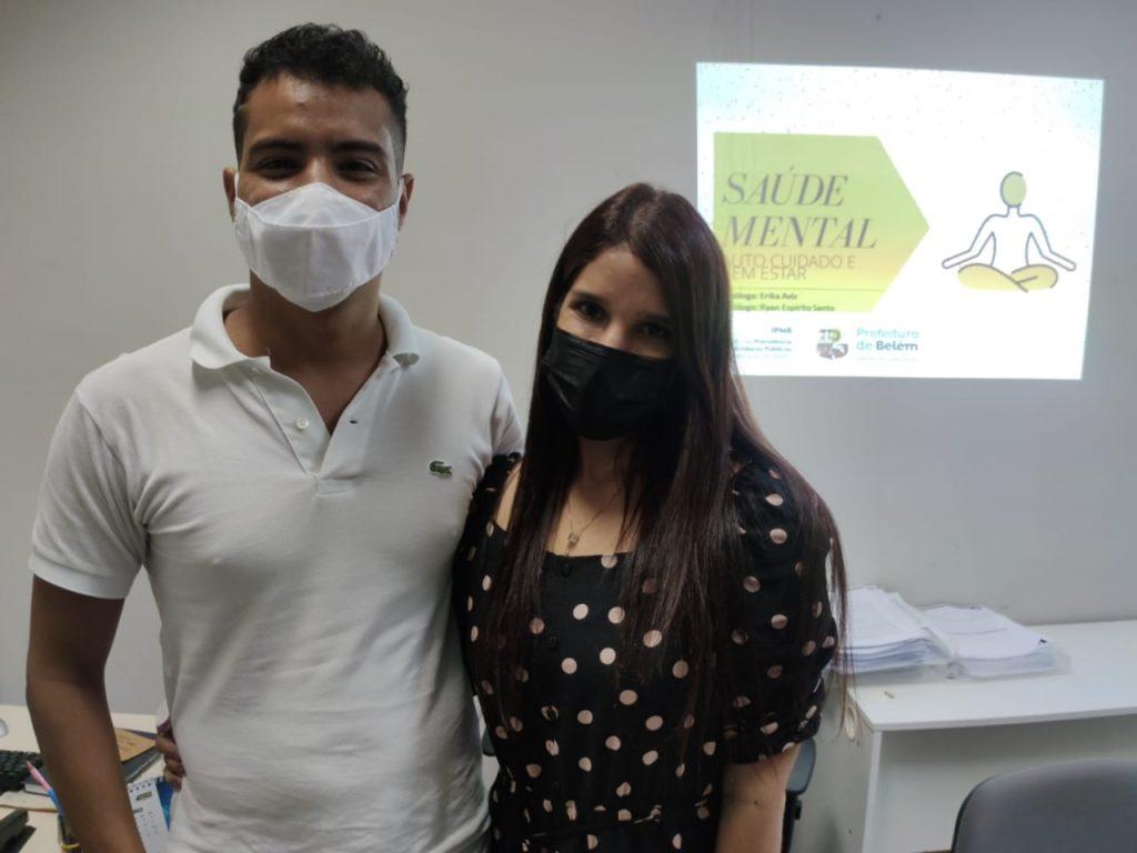 Os psicólogos Ryan Espírito Santo e Erika Aviz, do Setor de Psicologia do IPMB