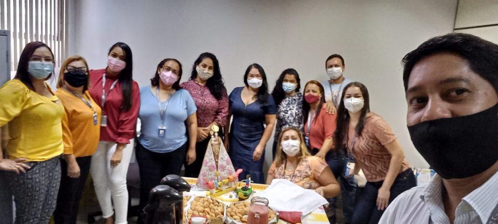 Servidores do Instituto de Previdência dos Servidores Públicos do Município de Belém (IPMB) confraternizaram-se em homenagem à Nossa Senhora de Nazaré